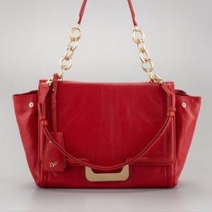Diane von Furstenberg Harper Red Satchel Handbag
